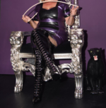 Latex & PVC thigh boots, throne in my Dungeon